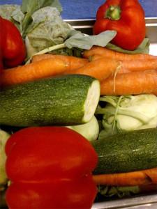 Schulküche (Gemüse aus der Region)